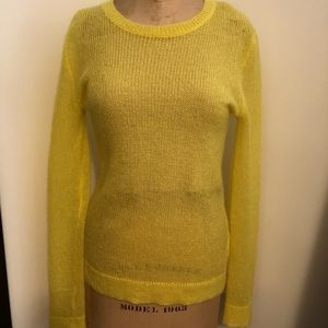 Sweaters - WOS walk of Shame Yellow Mohair Sweater Small